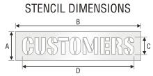 Stencil ST 0476