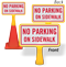No Parking On Sidewalk ConeBoss Sign