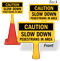 Slow Down Pedestrians ConeBoss Sign