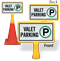 Valet Parking ConeBoss Sign