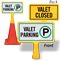 Valet Closed ConeBoss Sign
