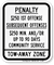 Parking Tow-Away Zone Sign