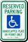 Reserved Parking Handicap Plate Sign