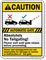 Automatic Gate, Absolutely No Tailgating Caution Sign
