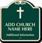 Custom Designer Church Parking Sign