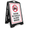 Custom No Vehicles Allowed Sidewalk Sign