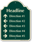 Custom Parking Lot Directory Palladio Sign