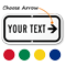 Custom Directional Right Arrow Sign