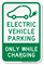 Electric Vehicle Parking Only Sign