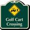 Golf Cart Crossing Signature Sign