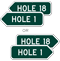 Hole 10 Golf Course Sign