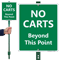 No Carts Beyond This Point Lawn Sign
