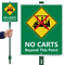 No Carts Beyond This Point Sign