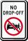 No Drop Off Sign