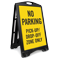 No Parking Pick-Up Drop-Off Zone Sidewalk Sign