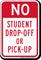 No Student Drop Off Sign