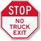 No Truck Exit Stop Sign