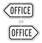 Office Directional Sign