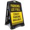 Parking Full Street Parking Available Sidewalk Sign