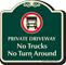 Private Driveway No Trucks Signature Sign