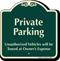 Private Parking Signature Sign