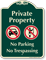 Private Property, No Parking Signature Sign