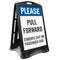 Pull Forward Portable Sidewalk Sign