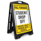 Pull Forward, Student Drop-Off Portable Sidewalk Sign