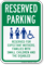 Reserved Expectant Mothers, Families, Children, Disabled Sign