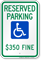 Reserved Parking Fine Imposed Sign (With Graphic)