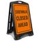 Sidewalk Closed Ahead Portable Sidewalk Sign Kit
