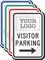 Visitor Parking Add Logo Custom Reserved Parking Sign