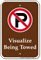 Visualize Being Towed Sign With No Parking Symbol