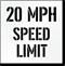 20 MPH Speed Limit Parking Lot Stencil