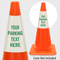 Add Your Parking Text Custom Cone Collar