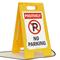 Positively No Parking W/Symbol Fold-Ups® Floor Sign