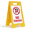 No Parking Portable Floor Sign