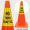 No Thru Traffic Cone Collar