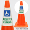 Reserved Parking With Handicapped Symbol Cone Collar